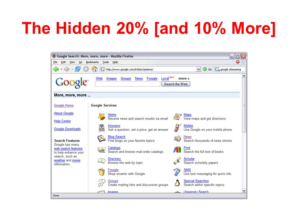 The Hidden 20% [and 10% More]